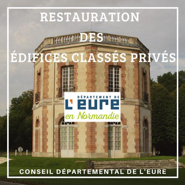 Restauration des édifices classés privés - Eure
