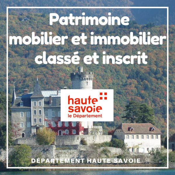 Aide à la restauration du patrimoine mobilier et immobilier classé et inscrit - Haute Savoie