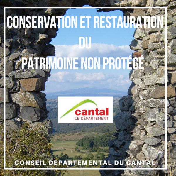 Aide à la conversation du patrimoine non protégé au titre des monuments historiques - Cantal