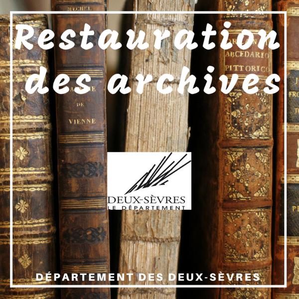 Subvention aux communes pour la restauration de leurs archives - Deux-Sèvres