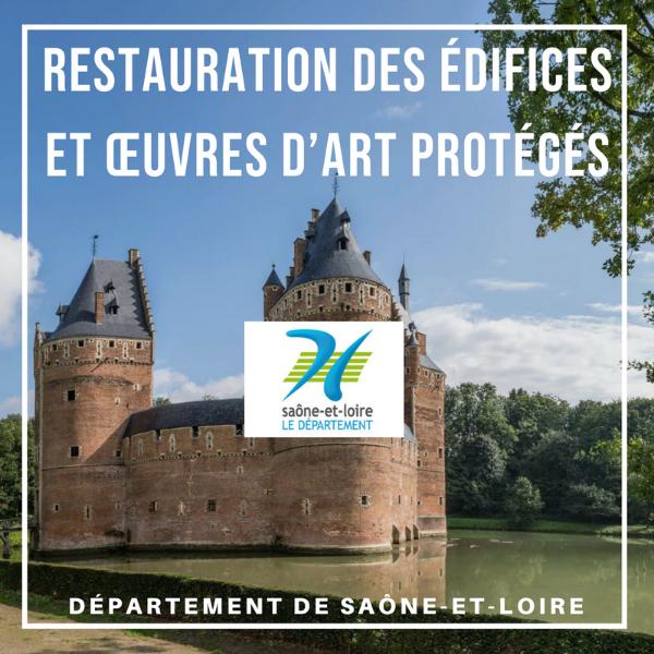 Aide à la restauration des édifices et œuvres d'art protégés - Saône-et-Loire