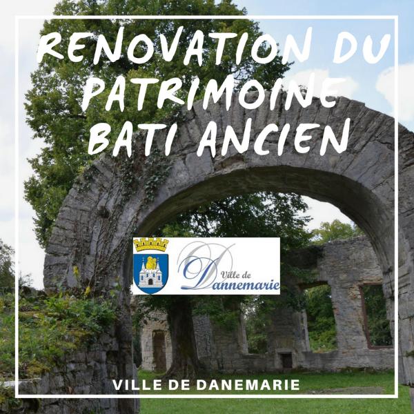 Subvention pour la restauration de patrimoine bâti ancien - Ville de Danemarie
