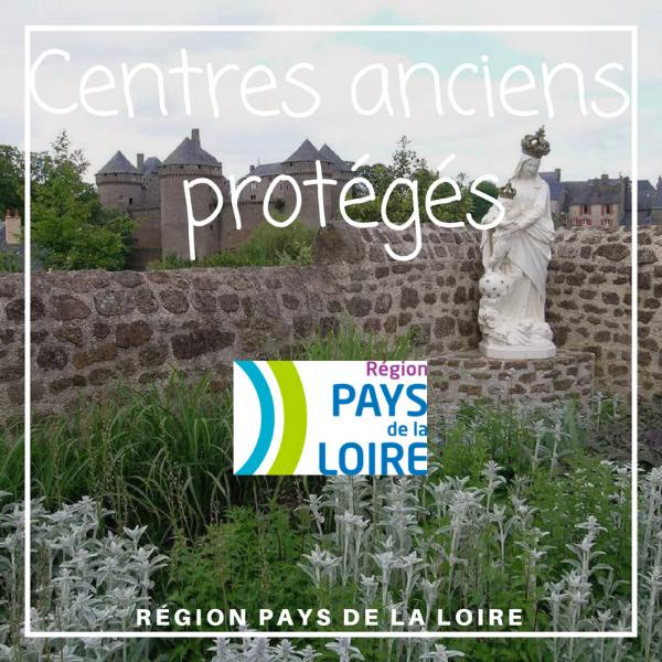 Centres anciens protégés de 10 petites cités de caractères - Pays de la Loire