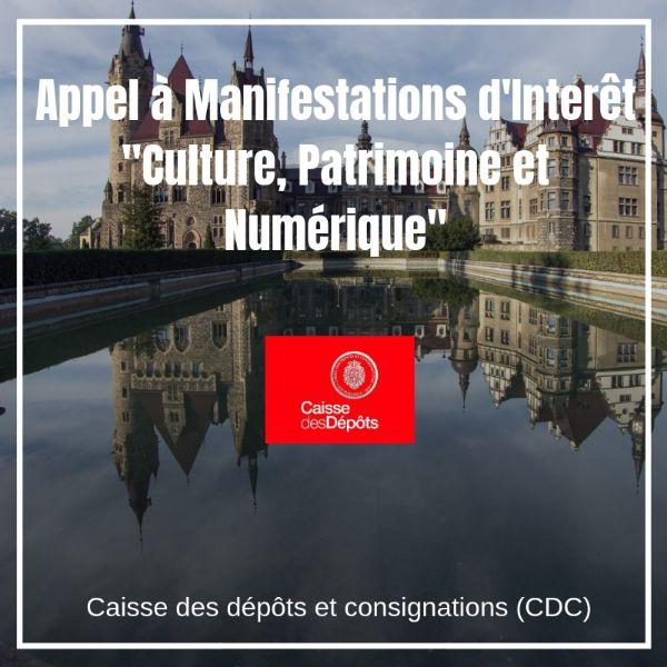 """Appel à Manifestations d'Interêt """"Culture, Patrimoine et Numérique"""""""