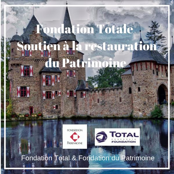 Soutien à la restauration du Patrimoine - Fondation Total