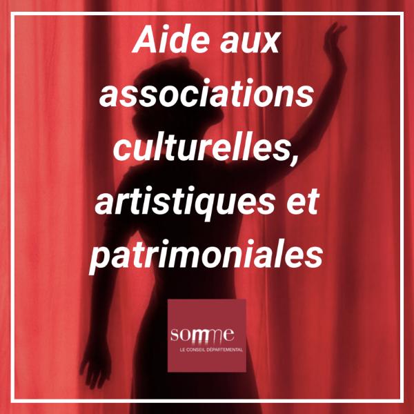 Aide aux associations culturelles, artistiques et patrimoniales - Somme