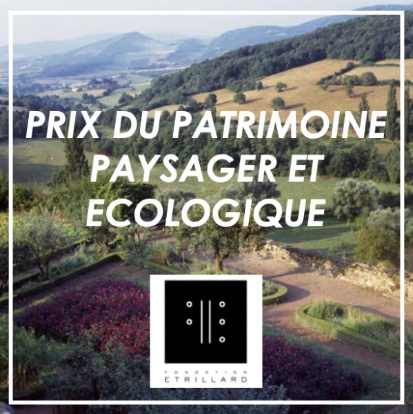 Prix du Patrimoine Paysager et Ecologique